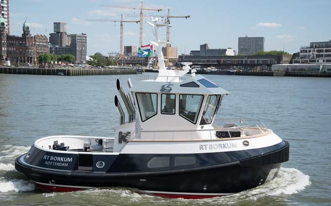 Sleepboot op afstand bestuurbaar